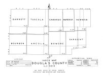 Douglas County Index Map, Douglas County 1950