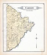 Carson Township, Kaskaskia River, Becks Creek, Fayette County 1891