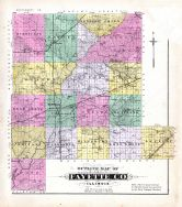 Fayette County Outline Map, Fayette County 1891