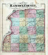 Hancock County Map, Hancock County 1874