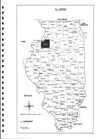 Illinois State Map, Henry County 1983