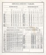 Statistics - Miscellaneous Tables, Statistical United States Census, 1870 - Page 220, Illinois State Atlas 1876