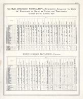 Statistics - Native Colored Populations - Page 218, Illinois State Atlas 1876