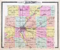 Allen County Indiana Historical Atlas - Counties in indiana map
