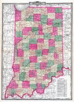 Indiana State Map, Allen County 1898