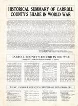 Historical Summary 1, Carroll County 1919