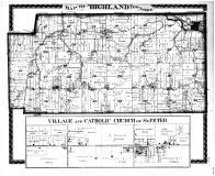 Highland Township, Bluecreek P.O., Cedar Grove, St. Peter, Franklin County 1882 Microfilm