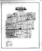 Hancock County Outline Map, Hancock County 1887