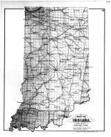 Indiana State Map, Jay County 1887