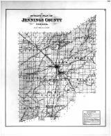 Jennings County Outline Map, Jennings County 1884