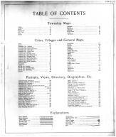 Table of Contents, Madison County 1901