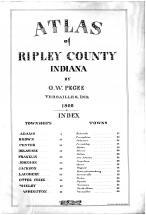 Index, Title Page, Ripley County 1900