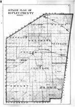 Ripley County Outline Map, Ripley County 1900