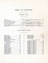 Table of Contents, Cloud County 1917