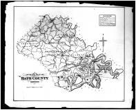Bath County Outline Map, Bath and Fleming Counties 1884
