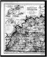 Kentucky and Tennessee Map - Left, Bath and Fleming Counties 1884