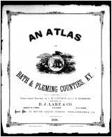 Title Page, Bath and Fleming Counties 1884