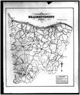 Bracken County Outline Map, Braken and Pendleton Counties 1884