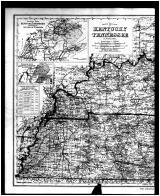 Kentucky and Tennessee State Map - Left, Braken and Pendleton Counties 1884