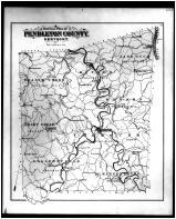 Pendleton County Outliine Map, Braken and Pendleton Counties 1884