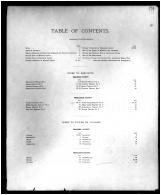 Table of Contents, Braken and Pendleton Counties 1884