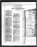 Henderson - 2nd and 3rd Wards Left, Henderson and Union Counties 1880