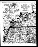 Kentucky and Tennessee Map - Left, Henderson and Union Counties 1880