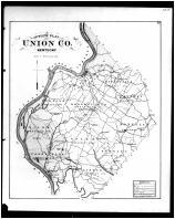 Union County Outline Map, Henderson and Union Counties 1880