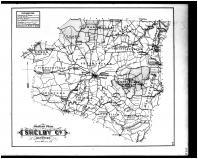 Shelby County Outline Map, Henry and Shelby Counties 1882
