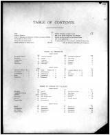 Table of Contents, Henry and Shelby Counties 1882