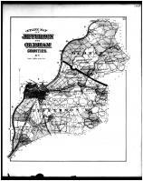 Jefferson and Oldham Outline Map, Jefferson and Oldham Counties 1879