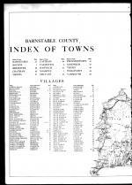 Index and County Map - Left, Barnstable County 1910