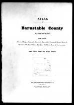 Title Page, Barnstable County 1910