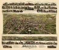 Barre 1891 Bird's Eye View 17x19, Barre 1891 Bird's Eye View