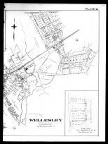 Plate 036 Right - Wellesley, Wellesley College, Canton Corner and O.S. Sanford Plat, Norfolk County 1888