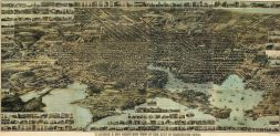 Baltimore 1869 Bird's Eye View 17x34, Baltimore 1869 Bird's Eye View