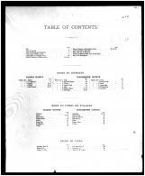 Table of Contents, Talbot and Dorchester Counties 1877