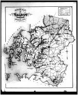 Talbot County Outline Map, Talbot and Dorchester Counties 1877