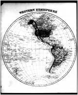 World Map - Western Hemisphere, Talbot and Dorchester Counties 1877