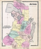 Acton Maine Atlas York County 1872 Maine Historical Map