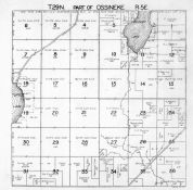 Ossineke Township 1, Beaver Lake, Turtle Lake, Alpena County 1940c
