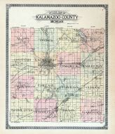 Kalamazoo County Outline Map, Kalamazoo County 1910