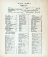 Table of Contents, Kalamazoo County 1910