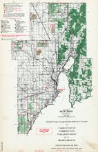 Delta County - West, Michigan State Atlas 1955