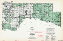 Mackinac County - West, Manistique Lake, Michigan State Atlas 1955