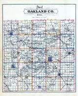 Oakland County Map, Oakland County 1877