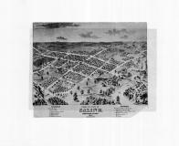 Bird's Eye View of Saline, Washtenaw County 1874