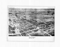 Chelsea 1881 Bird's Eye View, Washtenaw County 1874