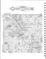 Township 142 N., Range 40 W., White Earth Lake, Strawberry Lake, Becker County 1911
