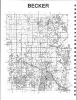 Becker County Map - West, Becker County 1992